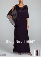 custom made 2012 NEW! Multi Tiered Long Caplet Chiffon Dress Style 2495DB Mother of the Bride Dresses