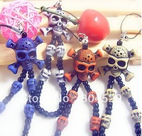 skull mobile phone chain accessories,key chain,halloweens gifts--Free for special customers