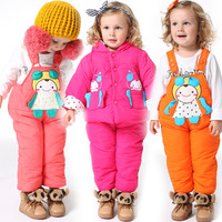 Suprenergic doll 12 winter children's clothing newborn set cotton-padded jacket bib pants twinset thickening wadded jacket