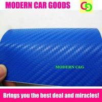 wholesale thickness 0.2mm blue carbon fiber vinyl film car wrap car covers with air drains