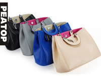 Hot sale causal three color women's handbag,high quality PU bag, free shipping