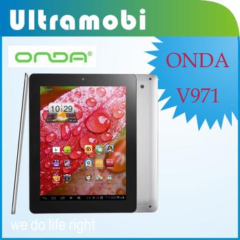 Free-Shipping Onda V971 9.7 inch IPS Screen Capacitive Screen Cortex A9 Dual Core Tablet PC DDR1GB ROM16GB HDMI