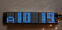 Free  shipping ,, DIY custom size LED dot matrix module 5 x 7 of seamless square point blue