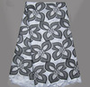 Free delivery, 100% cotton Swiss voile lace, heavy big design, cotton lace, lace fabric,SW-398