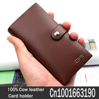 Send gifts  Cow leather Card holder  Credit card A lot of Card slot  Real cow leather Free postage Unisex