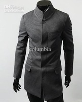 2012 New Hot Fashion Men&#39;s Coat Men&#39;s Slim Casual Concise Chinese tunic suit OverCoat Coat #2270