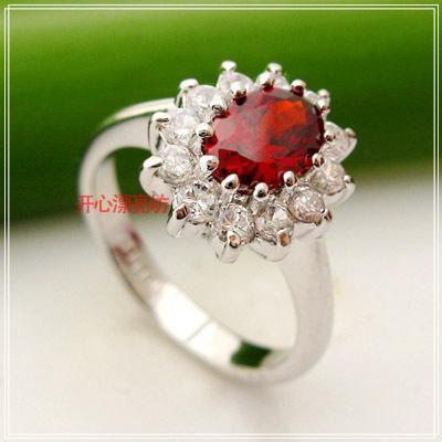 Luxury ring ruby ring cubic zircon zirconium diamond ring full rhinestone women s ring ka80