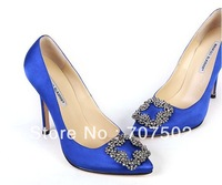 2012 new diamond-studded high heels womens shoes genuine leather shoes woman sequined satin platform pumps free shipping
