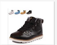 Free Shipping,Men's Ankle Boots,British fashion leather thick bottom leisure men's shoes han trend,Sport Running & Outdoor