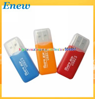 Free shipping by HK POST USB 2.0 Micro SD Card Reader/TF Card Reader