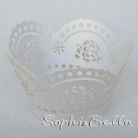2014 Popular W025W  24 pcs (2 bags)  Wedding Cupcake Wrap Cup Cake Liners  Cupcake Wrappers