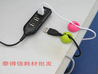 Free Shipping! Wholesale And Retail USB Deconcentrator Hub Data Line USB Interface For iPhone 4 4S Touch New