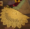 Free Shipping  New Arrival 31.5 inch Hand made crochet applepine table cloth/table cover , diameter  : 80cm - 5 pcs / lot