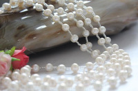 6.5- 7 mm natural Freshwater Pearl Necklace 200cm Long