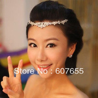 bride adorn article forehead jewelry  hair hoop import  decoration environmental plating white and red 2 color