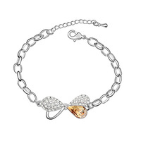 Fashion crystal bracelets yiwu crystal Austrian crystal bracelet   honey love sweetheart Free shipping