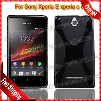 For xperia e dual X-type case, High-quality X line Soft TPU Gel Case Cover For Sony Xperia E c1605 xperia e dual