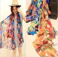 free shipping/2013 Autumn&Spring long chiffon Scarves & Wraps/ fashion color horse print /street style 10pcs/lot
