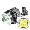 1 Set SKY RAY 4T6 4800-Lumen 4xT6 4*Cree XM-L T6  4-Mode Led Bicycle light Set(4T6 Bike Light)
