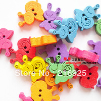 Diy handmade accessories wood buttons wooden buttonW-1044