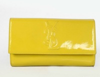 Women  Brand Fashion purse   /Belle De Jour Patent Leather Wallet 8223 Yellow