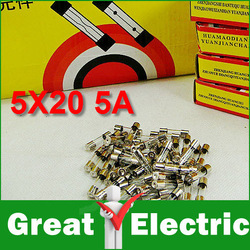 100pcs/Lot Fast Blow Glass Fuse, 5mm x 20mm 250V 5A Free Shipping SKU38009(China (Mainland))