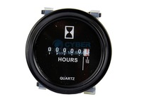 Free Shipping 3pcs/Lot New Black Round Hour Meter AC DC 9-80V Timer TK0285