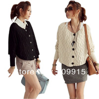 Women Cardigans Sweater Botton Jacket Shirt Knit Sweater 2012 HR449
