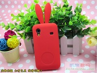 Rabbit silicone case for Samsung S5830 Galaxy Ace with rabbit tail stand colorful silicon cover case for Samsung S5830
