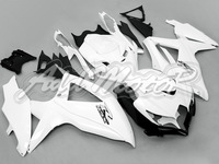 Fairing Fit GSXR600 750 08-10 GSXR750 08 09 10 GSXR 600 2008 2009 2010 2008-2010 K8 White Injection Mold Kit S6808