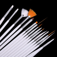 Free shipping 15 Nail Art Design Brushes Set Painting Pen Polish Tips #A011