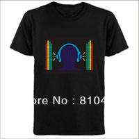 hot sale flashing led   t-shirt,sound active el t-shirt freeshipping