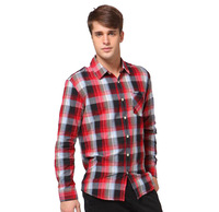 Free shipping splicing long sleeve Shirts for men cotton shirt garment size M-XXLwholesale MCL041