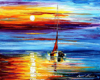 promotion oil painting-sunset over eternity painting by Leonid afremov knife wall arts decorate,abstract oil painting wall hang