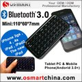 50pcs /lot Free shipping Wholesale Bluetooth3.0 Mini Wireles Keyboard for iPhone / iPad/The New iPad /PS3/PC/SmartPhone