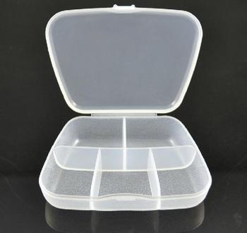 5pcs Plastic Pill Box Containers 5 Compartment Mini Tool Box Storage Case Organizer Free Shipping