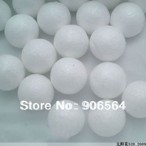 Free shiping wholesale 30mm natural white round foam plum blossom bud for nylon stocking flower accessories(100pcs/lot)(China (Mainland))
