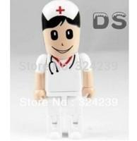 white Cute doctor model USB 2.0 Memory Stick Flash pen Drive 4GB 8GB 16GB 32GB