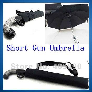 3pcs/lot Short Gun Umbrella Novelty Gift