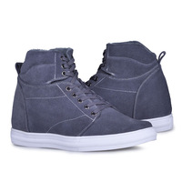 9256_6(Grey)-New arrival men's  handmade elevator summer boots keep you warm in winter and gain you 2.75 inches height