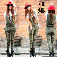 2013 Autumn fashion jumpsuit skirt vest design jumpsuit one-piece trousers women's