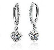 Free Shipping Platinum Crystal Earrings,make with SWA Elements.Rhinestone Earrings,Wedding jewelry  for Women Z500E0011