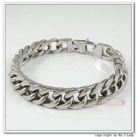 Stainless Steel Bracelet Mens Chain 2014, bijoux PUNK ROCK, Biker, gift, for pulsera hombre, Love aliexpress Jewelry WB022