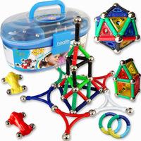 Christmas Gift Children Magnetic Building blocks 278pcs Educational toy storage box magnetic stick magnetic building block JM001