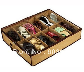 Free Shipping Transparent Waterproof Fabric Non-Woven Shoes Storage Box Folding Organizer Bag For Bra Underwear Necktie Socks