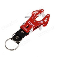 Portable and Functional Mountaineering Aluminum Alloy Tiger Buckle (Red)
