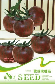 Free Shipping 3 Pack 60 seed,Purple Tomato Seeds C094