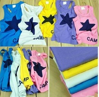 2013 New Summer Baby girl boy short sleeve t-shirt  Star tops 5pcs/lot  SZ12