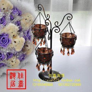 Dark brown fashion candle holder,votive holder,candle stick,pillar holder,candle stand ,free shipping OP038