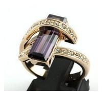 Italian CZ zircon amethyst wedding Ring rings #6~9